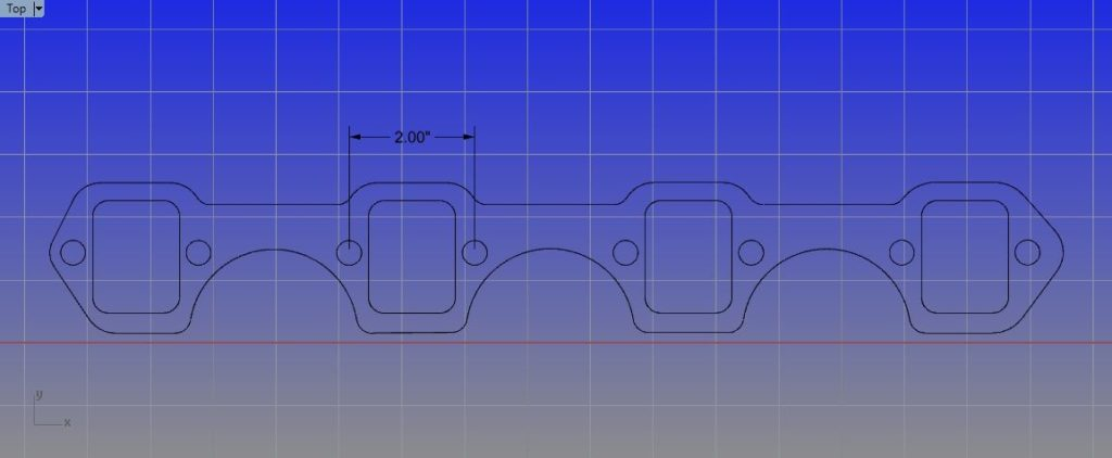 "Small Block Ford (2"" Bolt Spacing) Header Mockup Kit - GPHeaders - Barnesville, MN"